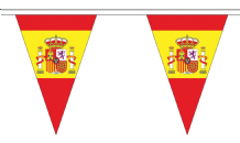 Spain State Triangular Flag Bunting - 20m Long - 54 Flags